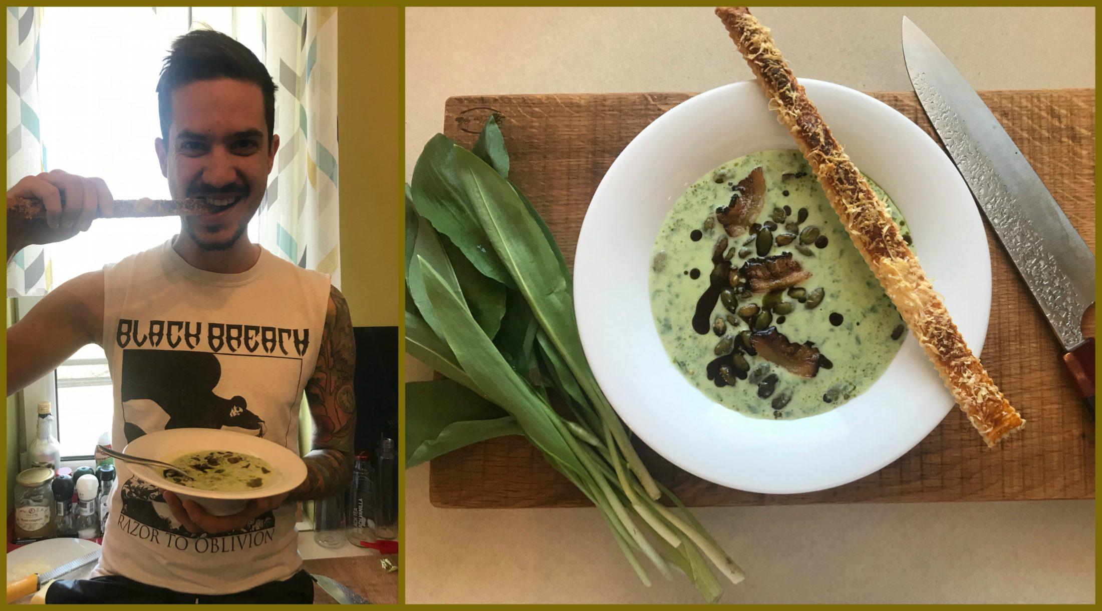 Főzz a Séffel!#11 Medvehagyma-krémleves és sajtos rúd a Pajta séfjétől, Farkas Richárdtól