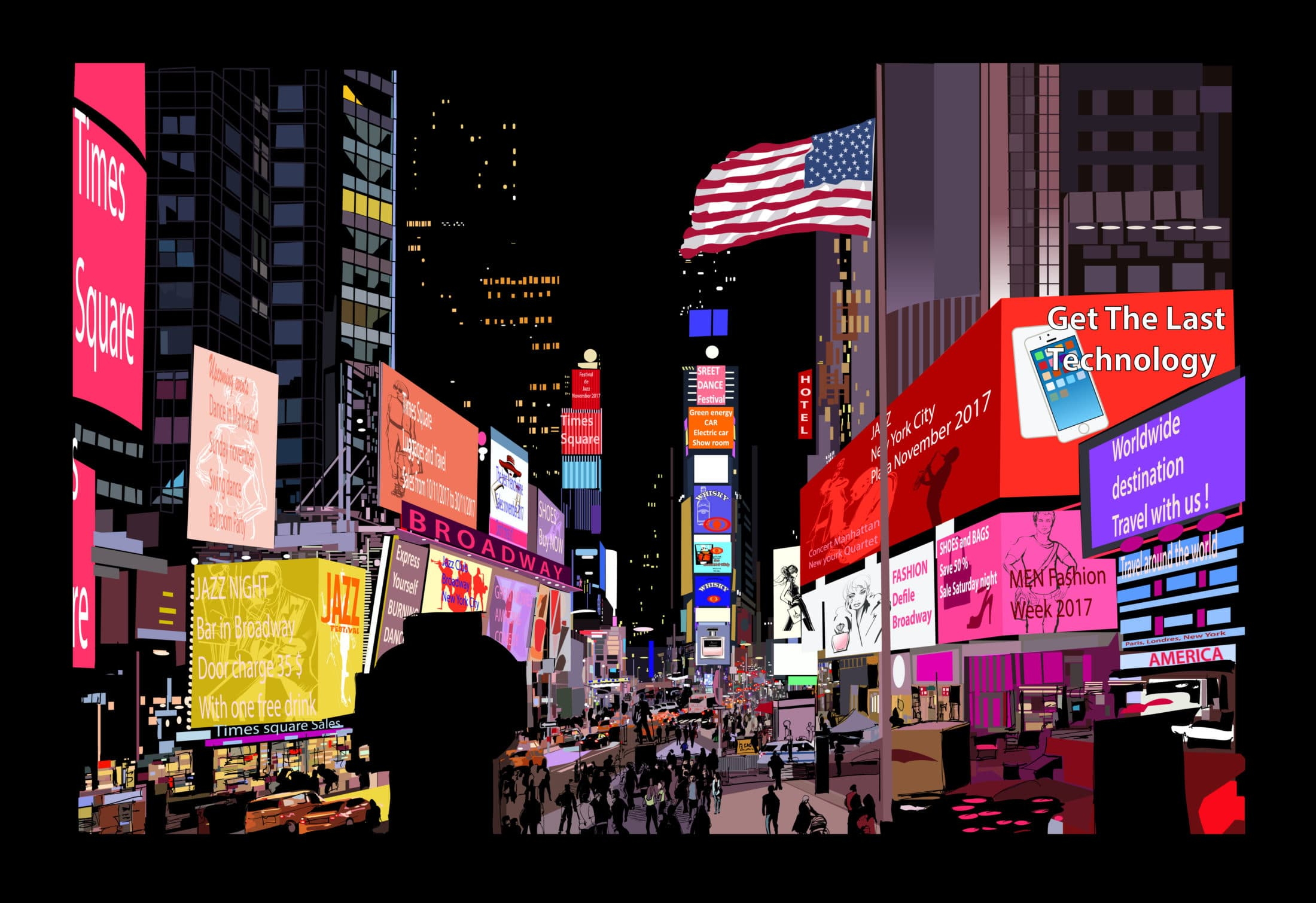 Igazságot az éttermeknek: elsötétült a New York-i Times Square