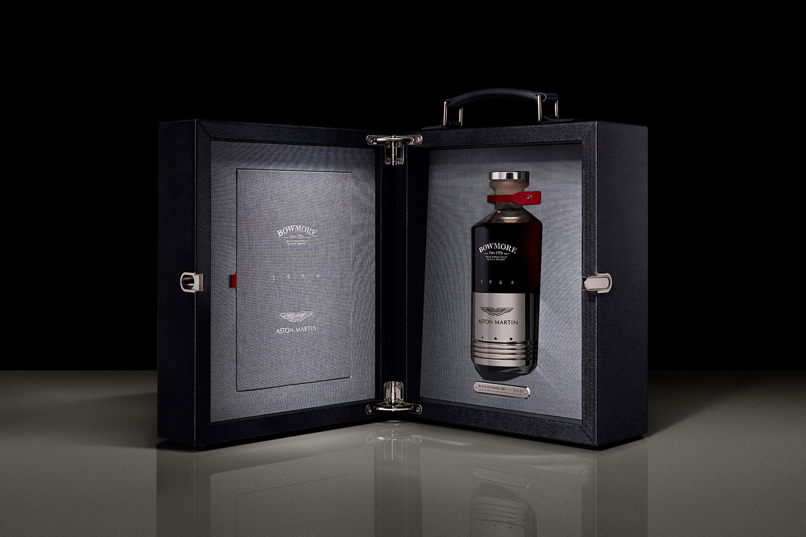 Stíluslegendák egy Scotch-ban: Aston Martin DB5 1964 alkatrésszel készülő Bowmore whisky